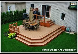 Deck With Patio by Backyard Patio Deck Ideas With Backyard Patio Ideas Landscaping