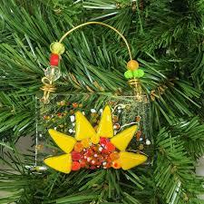 sunflower ornaments prairie glass studio