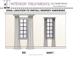How To Hang A Valance Scarf by Where To Hang Drapery Rod Curtain Do U0027s And Don U0027ts Pinterest