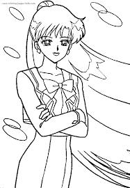 sailor moon color cartoon color pages printable cartoon