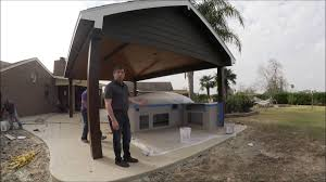 outdoor kitchen and patio pavilion in santa fe texas youtube