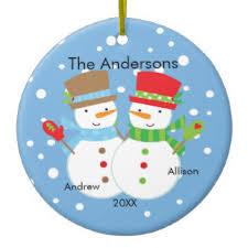snowman family ornaments keepsake ornaments zazzle