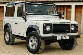 white land rover defender land rover defender 50th anniversary 4 0 v8 auto