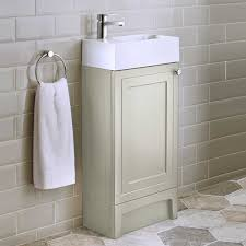 Bathroom Vanity Units With Basin by Origins Classic Vanity Unit U0026 Basin Ivory 400 Left Hand
