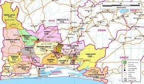 Nigeria State Map by Ogun State Zip Code Map