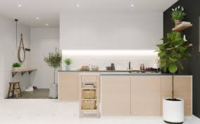 aga in modern kitchen three contemporary interiors making the most of light wood