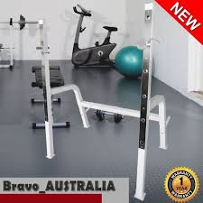 Training Bench Press Squat Rack Stand 250kg Adjustable Olympic Home Gym Weight Training