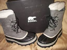 womens gray boots size 11 size 11 sorel caribou insulated womens gray shale suede winter
