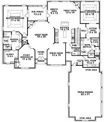 Great Room Floor Plans Single Story 654269 4 Bedroom 3 5 Bath Traditional House Plan With Two 2