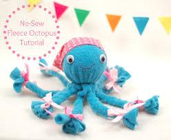 no sew fleece octopus tutorial whileshenaps com