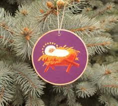 jesse tree ornaments rustic wooden advent purple ready