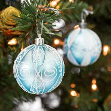2 36 60mm set of 24 handcrafted ornaments blue