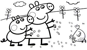 peppa pig coloring pages at children books online