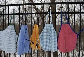 fabriquer un tablier de cuisine pour faire des jolis tabliers avec des vieilles chemises chez