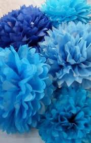 royal blue tissue paper dress my cupcake 14 inch royal blue tissue paper pom poms set of