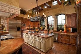 small rustic kitchen ideas brown tile backsplash white cabinets