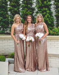sequin bridesmaid dresses one shoulder sequin bridesmaid dresses gold bridesmaid dresses
