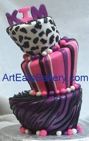 animal print fondant birthday cakes for women and young ladies