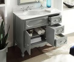 White Cottage Bathroom Vanity by Adelina 42 Inch Antique Cottage Bathroom Vanity Grey Finish White