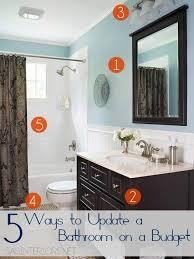 inexpensive bathroom ideas updating bathroom ideas playmaxlgc