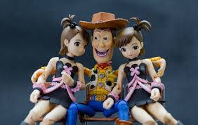 creepy woody doll set as seen in popular internet meme toy story