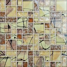 Mirrored Mosaic Tile Backsplash by Crystal Glass Tile Backsplash Kitchen Crackle Glass Mosaic Tile