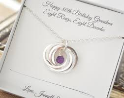 8th anniversary gifts for 80th birthday gift for and necklace 8th anniversary