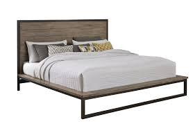 King Platform Bed Set Industrial Modern Pine U0026 Metal 6 Piece King Bedroom Set Edgewood
