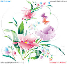 free clipart with butterflies and flower pictures clipart