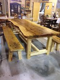 custom made farm tables custom made farm table and benches from slabs of solid pecan