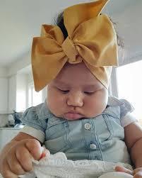 baby headwrap mustard headwrap bow baby headwrap turban tie top knot