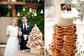 these cute doughnut wedding cakes will save you some cash