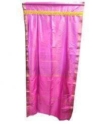 Fuchsia Pink Curtains Sari Curtains Indian Sari Panel Bedroom Curtains Mogulinterior