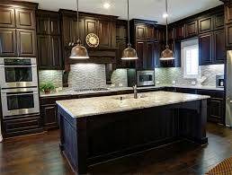 unique dark wood kitchen cabinets 94 within decorating home ideas