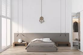 floor level bed minimalist style design of a 3 bed 2 bath 2 floor house includes