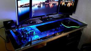 desk beautiful best desks for gaming alluring pc gaming setup