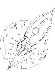 rocket coloring kids space rocket craft ideas