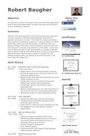 Sample Forklift Operator Resume by Machinist Resume Samples Visualcv Resume Samples Database