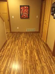 cozy design bamboo flooring in basement for radiant heat