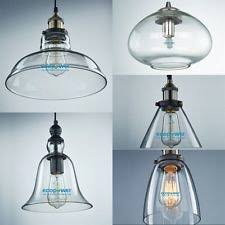 Clear Glass Pendant Light Replacement Globes For Ceiling Lights And Clear Glass Pendant