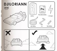 delorean ikea instructions movie geeks are crazy graphic