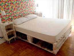 pallet bed with storage underneath 130 inspired wood pallet