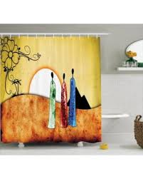 Shower Curtains Sets For Bathrooms by Spring Into Savings On African Shower Curtain Set African People