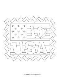 coloriage pays et regions patriotisme americain à colorier