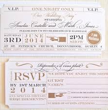 wedding invitations kildare theatre ticket invitation lots of invitations kildare
