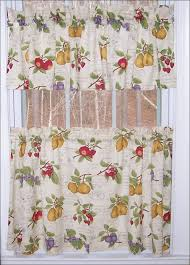 kitchen country style curtains curtain and valance set kitchen