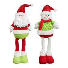 2017 2pcs retractable santa claus snowman pattern dolls