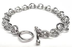 bracelet chain link styles images Ss tiffany style round link bracelet w toggle clasp 8 quot jpg