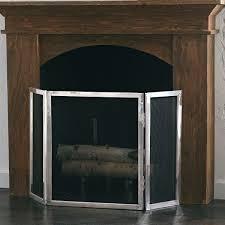 modern stainless steel fireplace screen wisteria