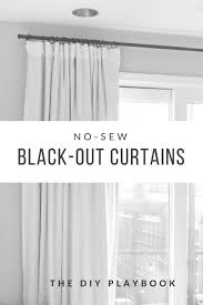 black blackout curtains bedroom how to make no sew black out curtains blackout shades bedrooms